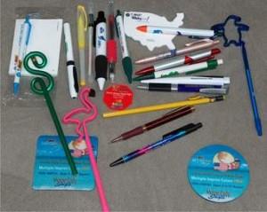 Toss-away promo pens