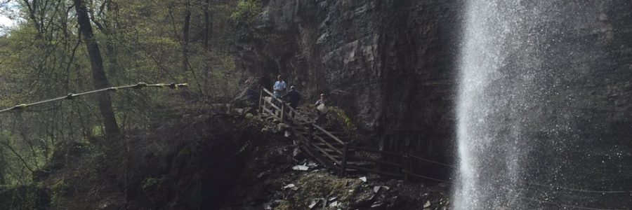Thacher Park and the strong spring waterfalls