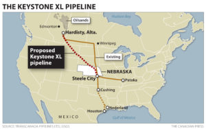 Keystone XL redundant route